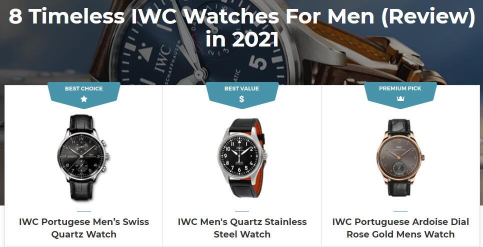 Best IWC Watches For Men